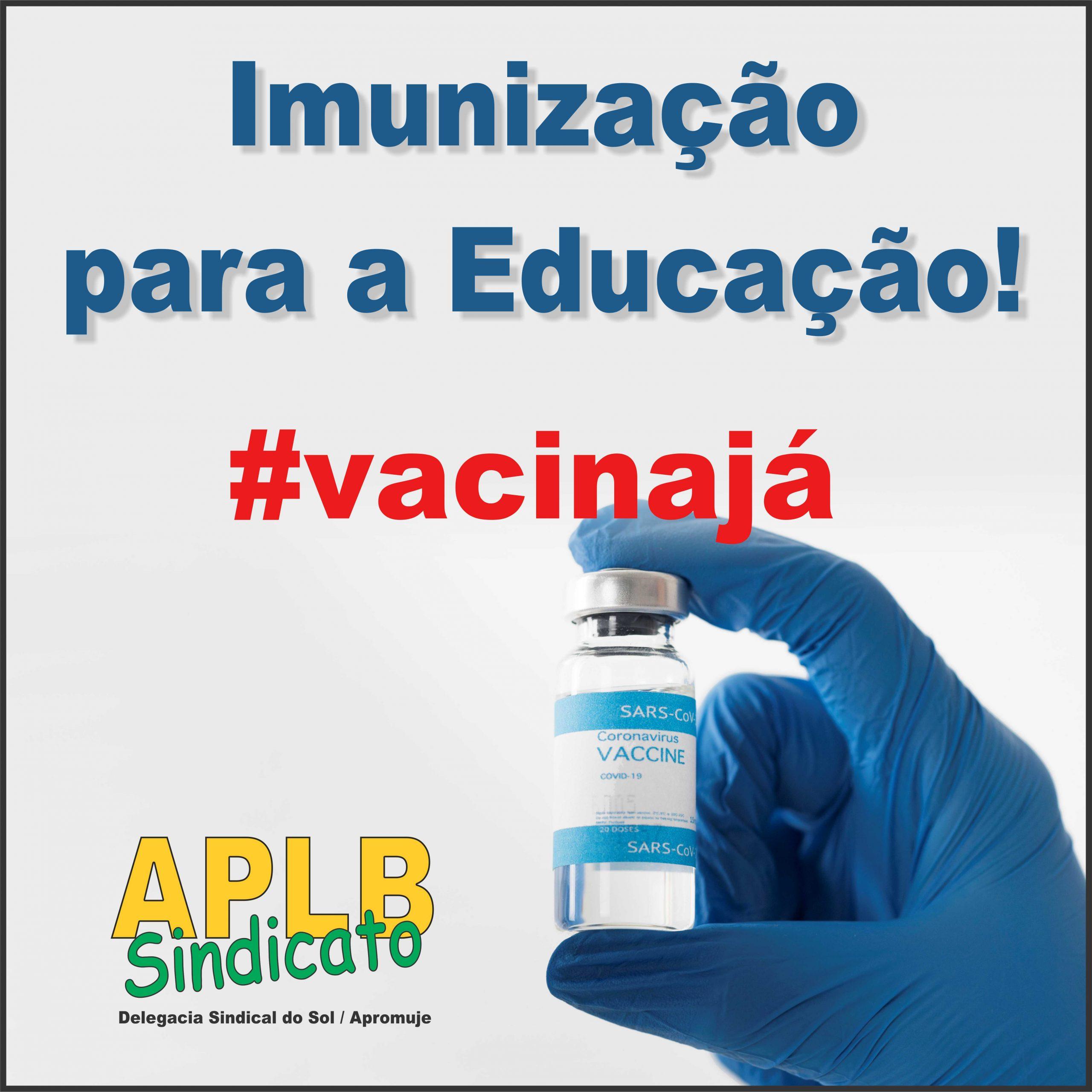 APLB participa de campanha em defesa da vacina contra o Covid 19