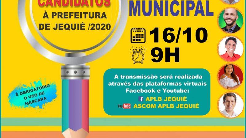 """APLB REALIZARÁ ENCONTRO COM OS CANDIDATOS À PREFEITURA MUNICIPAL / 2020, COM O TEMA """"O FUTURO DA EDUCAÇÃO MUNICIPAL"""". PARTICIPE PELAS PLATAFORMAS DE TRANSMISSÃO."""