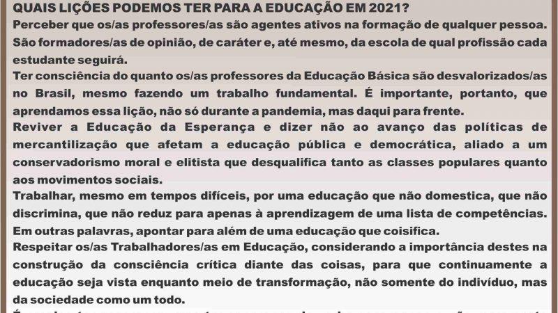 O QUE ESPERAMOS DA EDUCAÇÃO EM 2021?