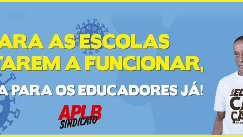 POR UM RETORNO ÀS AULAS PRESENCIAIS SEGURO, COM EDUCADORES VACINADOS!