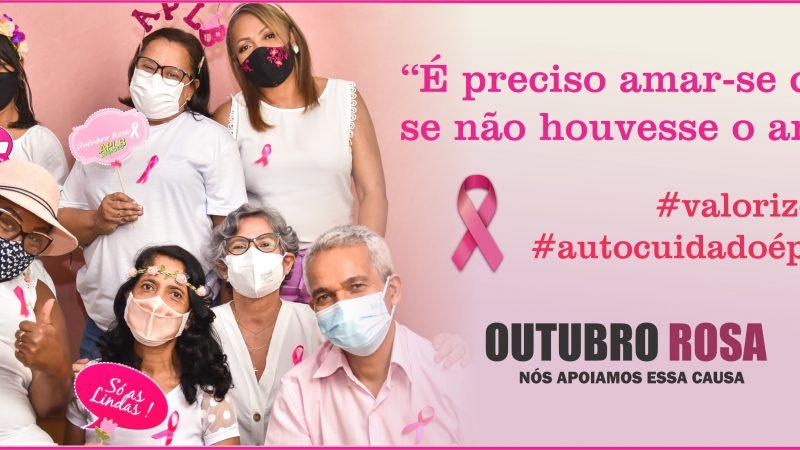 APLB PROMOVE CAMPANHA OUTUBRO ROSA COM PROFESSORES DA REDE MUNICIPAL DE ENSINO